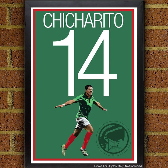 Javier Chicharito Hernández Poster Mexico Poster 8x10
