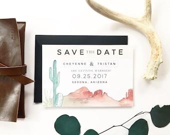 Desert Save the Date - Arizona wedding, California wedding, Utah wedding