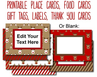 Full Of Fun And Festive Designs This Sheet Printable Place Cards Is Perfect For