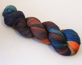 Merry-Go-Round, Hand dyed BFL Sock 4-ply, 75/25 sw BFL/nylon