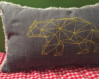 Yellow bear cushion