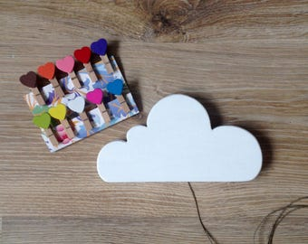 Cloud art display clips, Cloud design, Display Clips for Kids, Cloud decor, Nursery decor, Children's Art Display Hanger with Clothespins