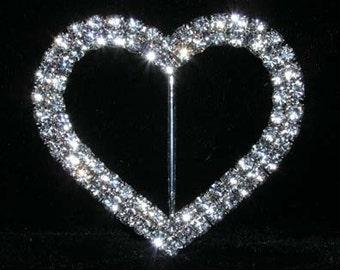 """Style # 14581 - 2 Row 2.25"""" Heart Buckle"""