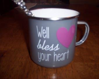 Metal Coffee Mug with Beaded Jar Spoon