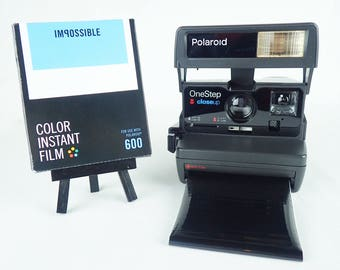 POLAROID ONESTEP CLOSEUP tested and with Impossible film and tongue, vintage, analog, instant party camera G3 138