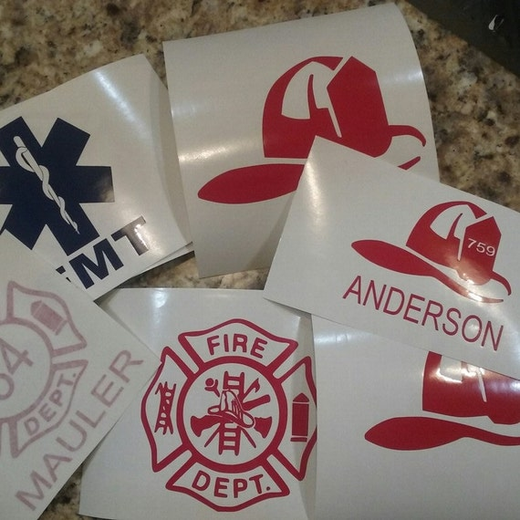 Firefighter, maltese cross decal, firefighter yeti decal, cup decal, decal, fireman decals, firefighter yeti, yeti decal for men , maltese