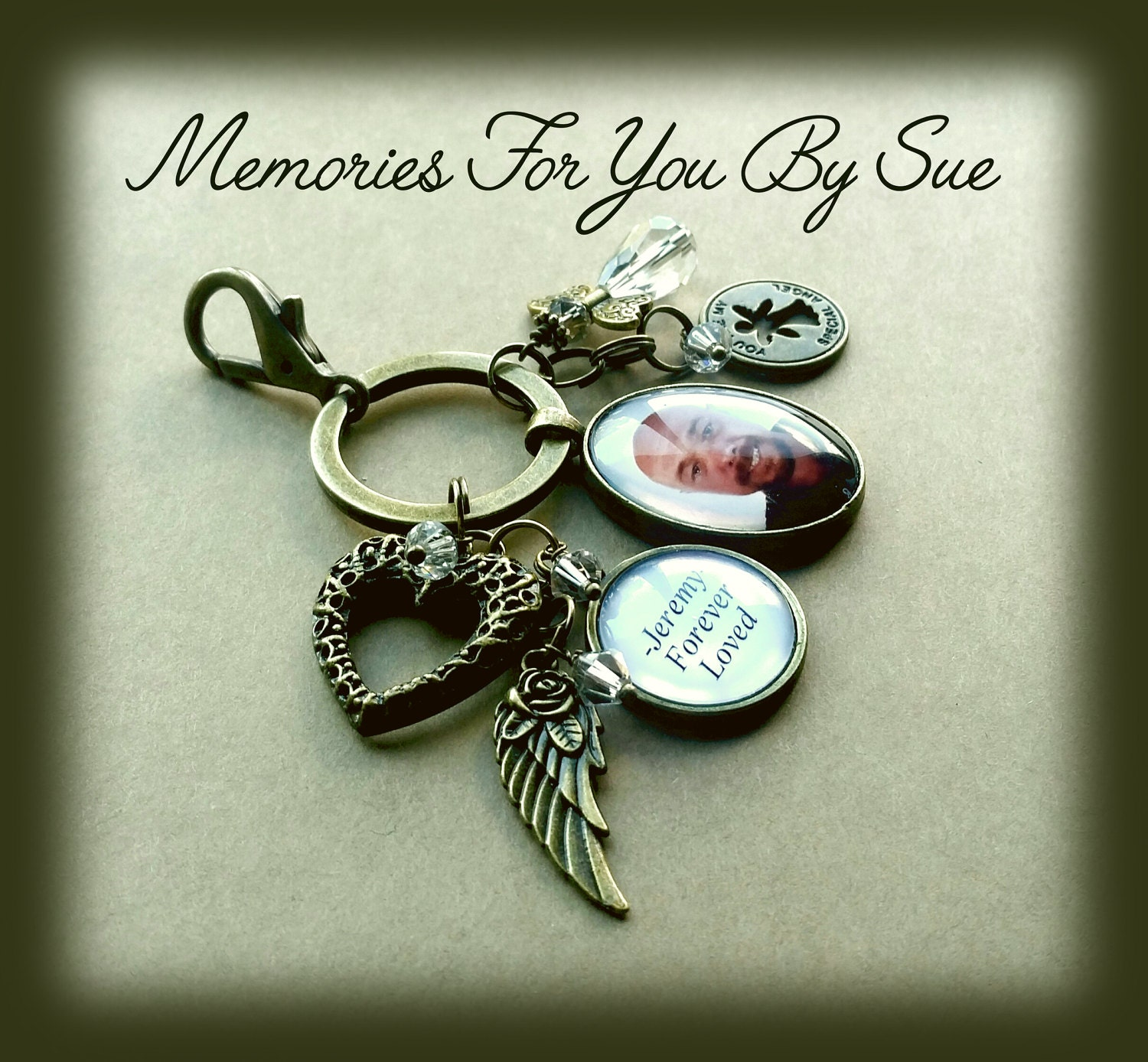 personalized key chain bronze gift for him bronze jewelry loss of