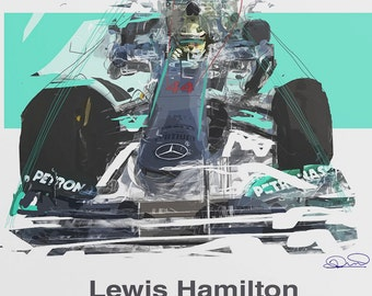 Lewis Hamilton Art - Hammertime - Limited Edition - F1 Gift