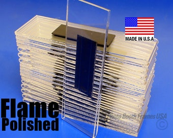 100 Magnetic Photo Booth Frames, 2x6, Non-Imported, USA Made, Extra Thick Acrylic