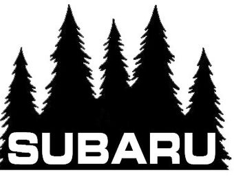 Subaru Pine Tree Vinyl Decal