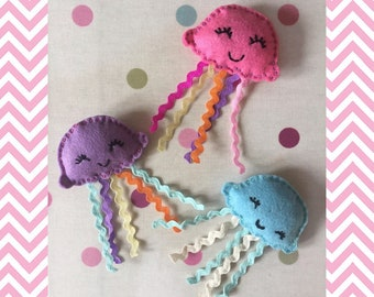 Jellyfish Catnip Toy - Felt Cat Toy -  Catnip Cat Toy - catnip Toy