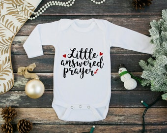 New baby gift - long sleeve one piece - little answered prayer