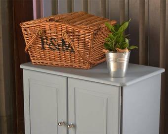 Pine cupboard, short wardrobe, grey pine tallboy, painted pine furniture, kids bedroom furniture, country style cabinet, boys pine wardrobe