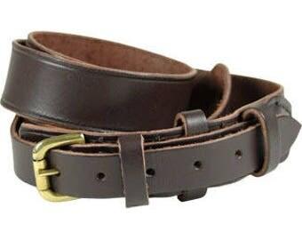 Unisex Leather Belt Leather Belt Belt Brown Belt Trosers Belt Brown Unisex Leather Belt