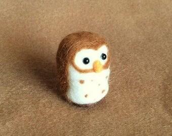 Little Owl - needle felted