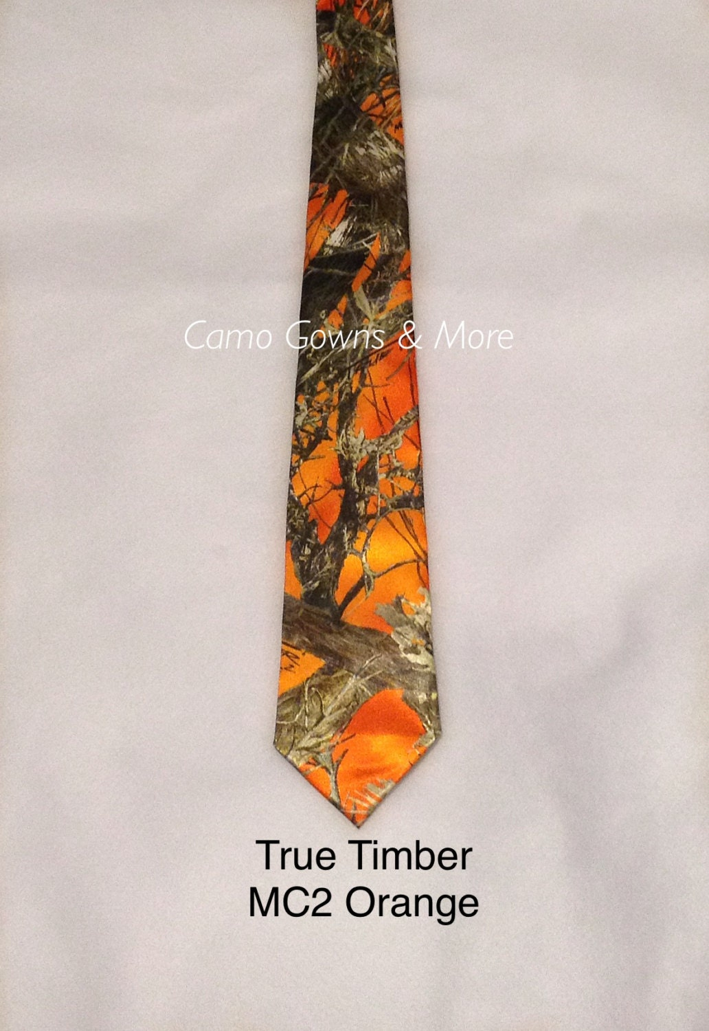 Orange Mens Tie Orange Camo Mens Camo Tie