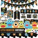 Little Monster Birthday Decorations - Funny Kids Party Decor Package - Cute Little Monster 1st Birthday - DIY Party Printables - PDF