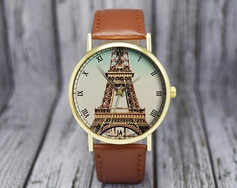 Vintage Paris Watch | Eiffel Tower Watch | Travel Gifts | Ladies Watch | Women's / Men's Watch | Birthday Gift Ideas | Fashion Accessories