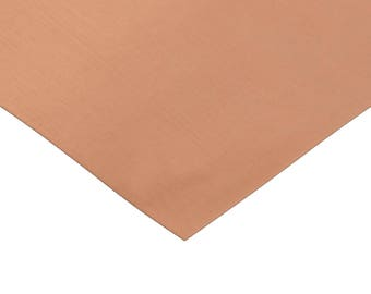 "RMP 110 Copper Sheet - 0.021"" Thickness (16 Oz) 1/8 Hd, 12"" Width, 12"" Length"