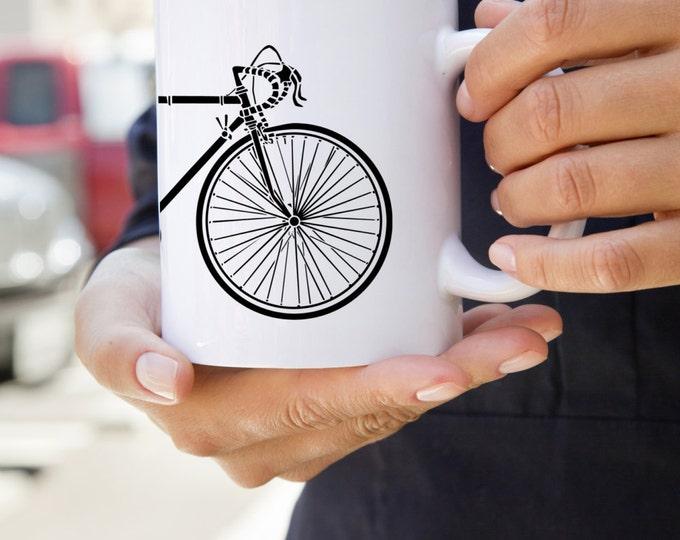 KillerBeeMoto:  U.S. Made Coffee Mug of Vintage 10 Speed Bicycle