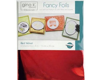 Therm O Web - Fancy Foils - 6 x 8 - Red Velvet