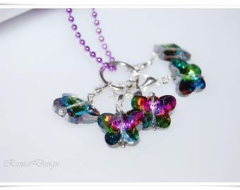 Stitch marker removable Crystal Butterfly