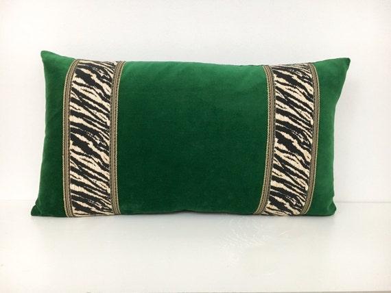 Items Similar To Emerald Green Velvet Lumbar Pillow Cover