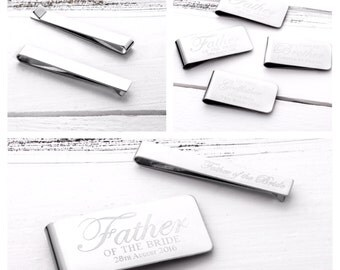 Father of the Bride Gift   Father of the Groom Gift   Godfather gift   Best Man Gift   Personalised Money Clip (W236)