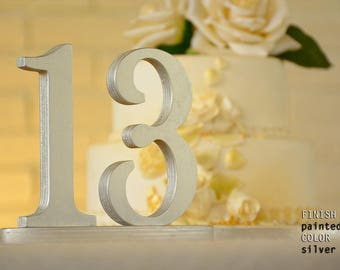 Wedding Table Numbers, Silver Wedding Table Numbers, Glitter Table Numbers, Silver Wedding Centerpieces
