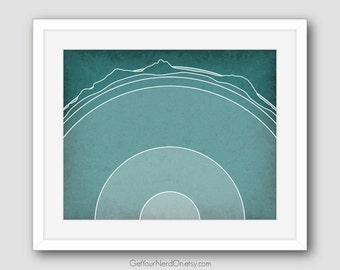 Science as Art - Earth's Layers Print - Available as 8x10, 11x14 or 16x20