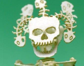 Medusa Tiny Bare Bones Skeleton Puzzle