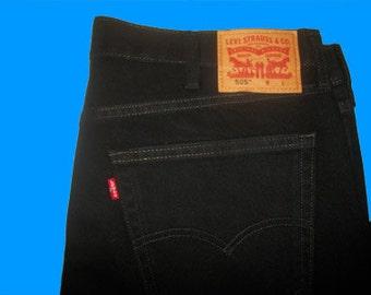 Levis 505 Regular Fit - Like New - All Sizes  Black