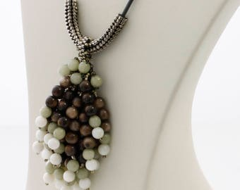 Unique Necklace - Adjustable Necklace - Shell Gemstones - Tassel Necklace - FREE SHIPPING AU -  Mothers Day Gift - Natural Shell - Ktc-329