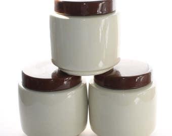 Set of 3 Vintage McMoy 214 Canisters Cookie Jars
