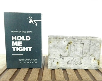 Dead sea Mud soap| Exfoliating Body Soap for firmer skin |  Cellulite Soap| Firming Soap with Cypress, Rosemary and Ivy| Cold process