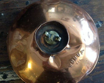 Funky Shiny Copper Bed Warmer with Brass Stopper