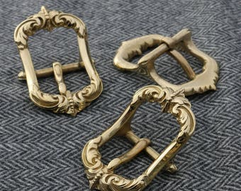 PORTOS Belt Buckle Brass renaissance musketeer SCA LARP medieval ornamental Costume accessory Pirates Pirate Baroque