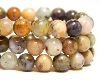6mm Moss Agate, 6mm Moss Agate, 6mm Agate, Natural Stone Beads, 6mm Moss Agate, 6mm Earthy Gemstones, 6mm Gemstones,  B-29B