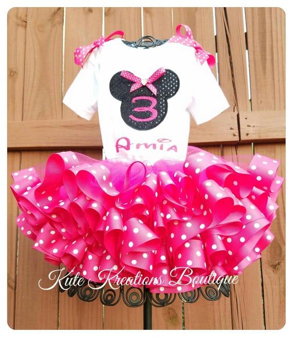 Minnie Mouse Ribbon Tutu/Ribbon Tutu Set/Minnie Mouse Tutu