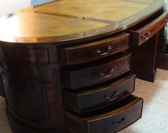 Stunning Mahogany Oval Partners Desk - Pick up in Denver, Co. or You can arrange Shipping