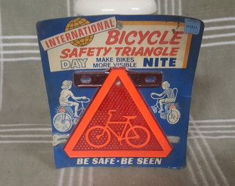 Vintage NIP International Bicycle Safety Triangle. Accessory. Reflector.