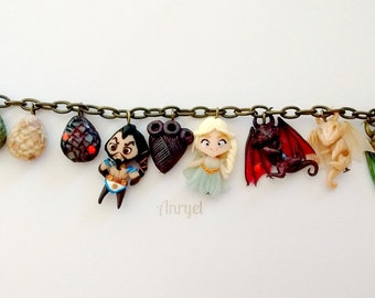 Game of Thrones FAN ART - Trono di Spade - Daenerys Targaryen Khaleesi Khal Drogo Dragons Mother Mhysa Dragon Eggs Bracelet