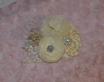 Hair clip, Flower hair clip, wedding hair accessory, wedding hair clip, Hair  accessory, Custom Made to Order