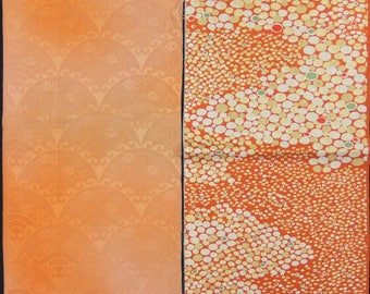 Vintage kimono silk fabric 2 pcs #7459