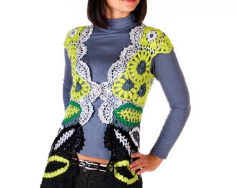 Handmade crochet tank top ,Size S-M