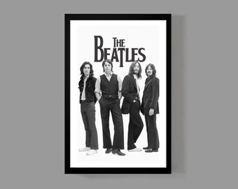 The Beatles Music Poster - John Lennon, Paul McCartney Print - Iconic, Classic, Legends