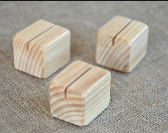 10 Small Wood Place Card Holders for Wedding and Party, DIY Rustic Table Number Holders, Wedding Decor, Cafe, Restaurant Table Number Holder