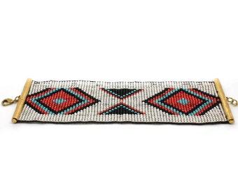 White woven Beads Bracelet