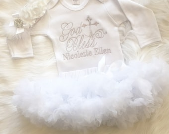 After Christening Outfit-After Party Outfit--Baptism Shirt-Baby Girl Pettiskirt Outfit-Girls SHIRT ONLY