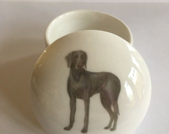 Small Weimaraner Trinket Box